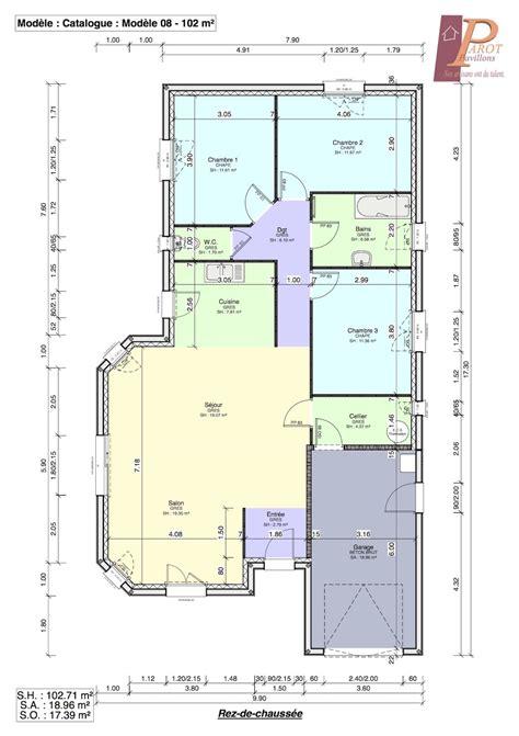 plan maison plain pied 2 chambres maison idéale pour terrain étroit