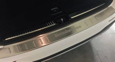 stainless steel rear bumper sill protector plate trim  mercedes glc   mbworldorg