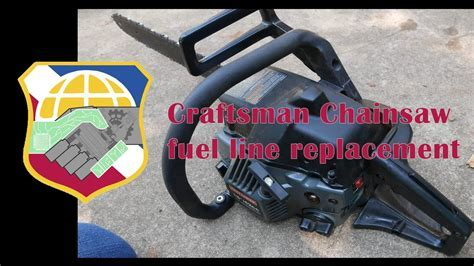 Sears Craftsman Chainsaw fuel line replacement   2 stroke