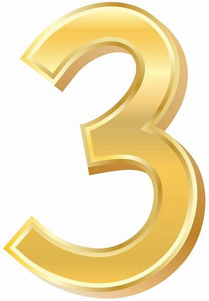 Number Clip Three Clipart Numbers Decorative Yopriceville