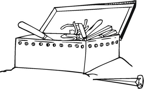 toolbox coloring page my tool box coloring sheet toolbox page grig3 org