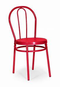 Chaise bistrot rouge for Meuble salle À manger avec chaise confortable
