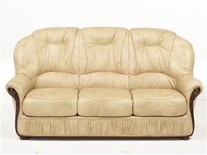 Canapé Cuir Fauteuil : canap et fauteuil en 100 cuir et 3 coloris debora ~ Premium-room.com Idées de Décoration