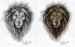 Male lion Tattoo design by Marzzunny on DeviantArt