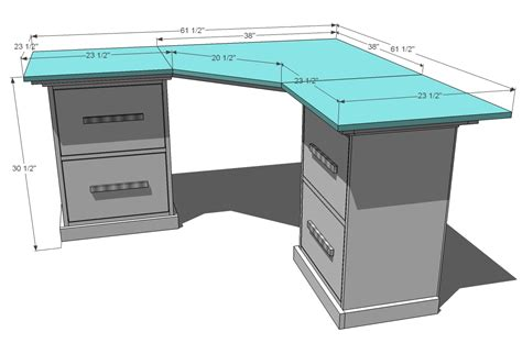 how to make a corner computer desk ana white office corner desktop plans diy projects gallery