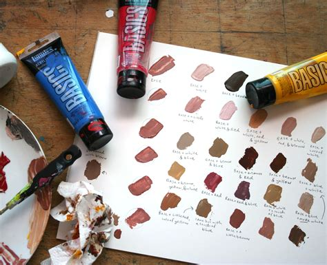 how to paint skin tones step by step