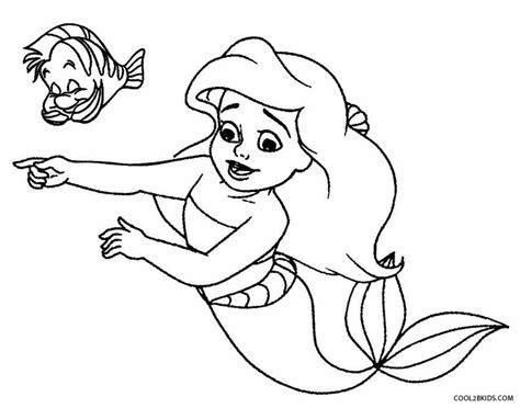 Easy Printable Mermaid Coloring Pages