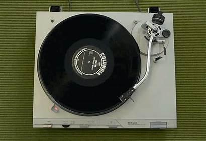 Changing Sl Technics D3 Player Record Vinyls