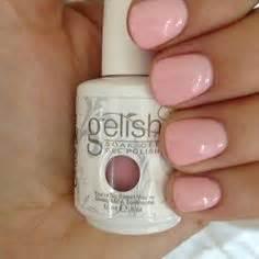 happy spring light pink gel nail color  super shinny