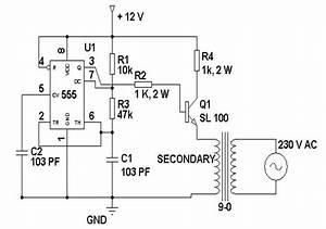 Loadedcircuit Com  12 Volt To 230 Volt Inverter Circuit