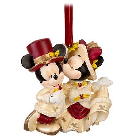 disney christmas ornament victorian minnie and mickey