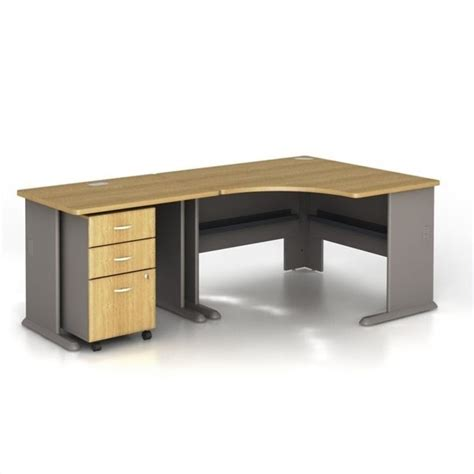 light oak computer desk bush business series a 3 piece corner computer desk in