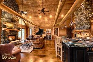 house plans with vaulted great room golden eagle log and timber homes log home cabin