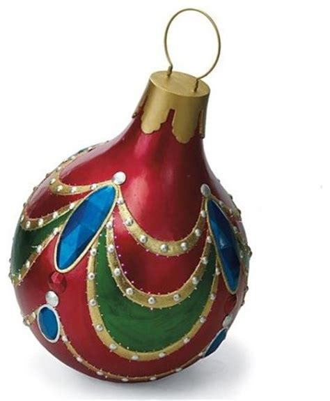 giant jeweltone fiber optic ornament outdoor christmas decorations traditional holiday