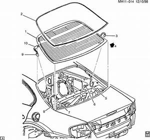 2002 Pontiac Bonneville Molding  Rear Window Reveal