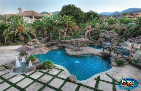 outdoor pool landscaping orange swimming pool and landscape design splash pools construction