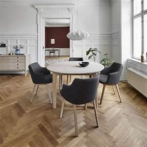 Table Ronde Extensible Bois : table ronde en bois style scandinave extensible sm112 ~ Teatrodelosmanantiales.com Idées de Décoration