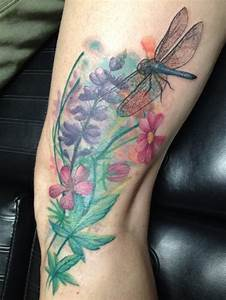 Colorful Dragonfly Tattoos - CreativeFan