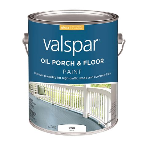 shop valspar white gloss interiorexterior porch  floor