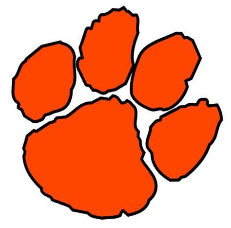 orange paw cut  images  clkercom vector clip