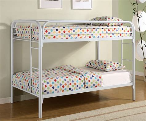 Bunk Bed Twin Twin Size Bunk Bed In White