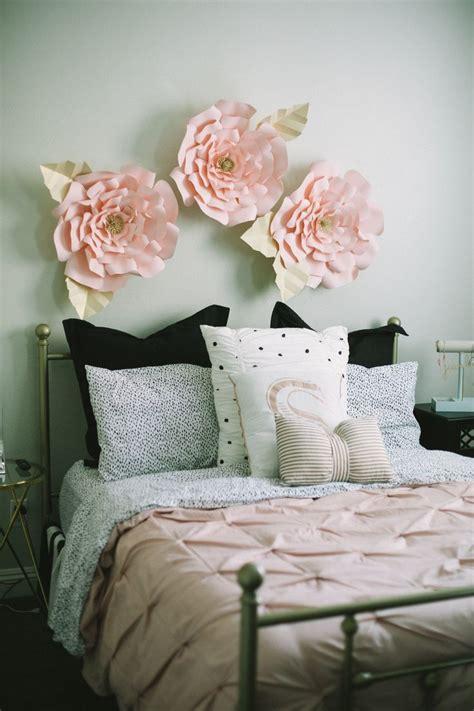 light pink rose gold teentween girls bedroom makeover