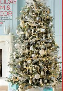 white and gold and silver christmas tree christmas pinterest