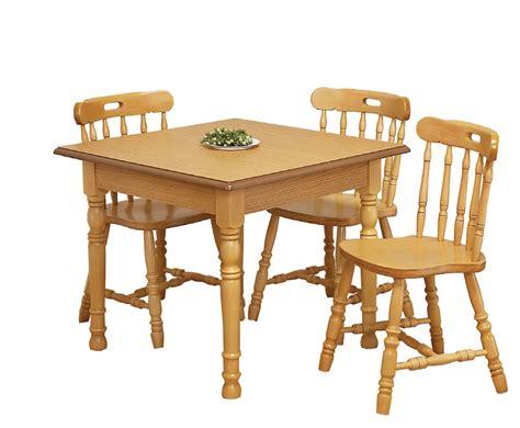 sutton oak square kitchen table  chairs