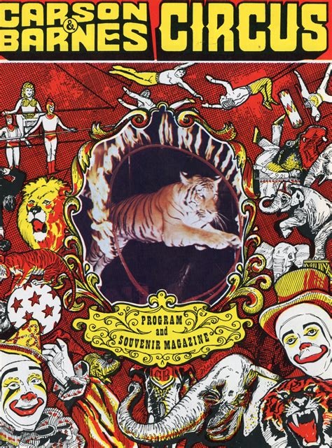 carson and barnes circus carson barnes circus programs the circus world llc