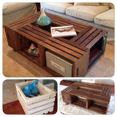 Ever since we bought our new home, i have been dying to do some diy's. DIY Wood Crate Coffee Table | Decor, Wood crates, Home decor
