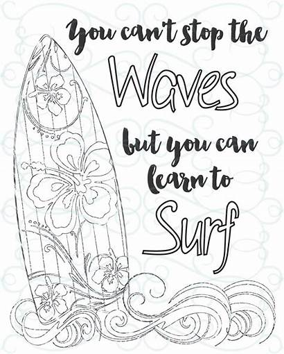 Coloring Adult Inspirational Printable Pages Surf Learn