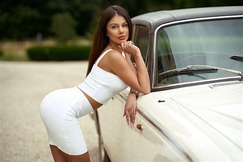 #women, #brunette, #women Outdoors, #long Hair, #bent Over