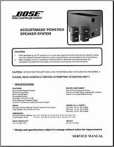 Bose Acoustimass Module Manual Diagram
