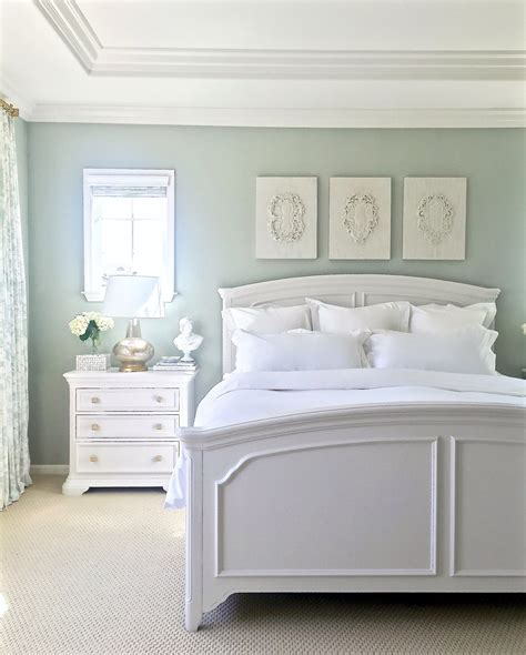 White Furniture Bedroom Ideas by Walls Are Restoration Hardware Silver Gray Green