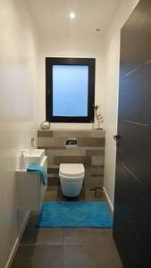 deco toilettes avec fenetre With carrelage adhesif salle de bain avec eclairage puissant led