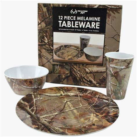 camo kitchen accessories realtree 12 melamine tableware set 29 99 1961