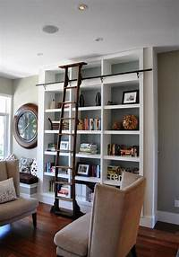 perfect wall ladder bookshelf Ladders, an unexpected interior décor element with lots of versatility