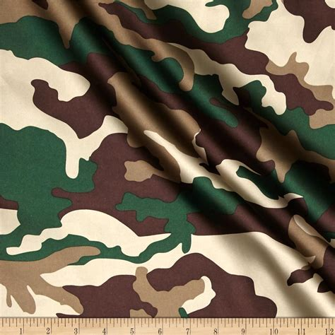 Camouflage Upholstery Fabric by Charmuese Satin Camouflage Green Discount Designer