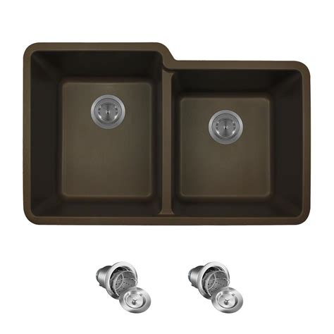 mounting kitchen cabinets mr direct all in one undermount quartz 32 5 in 0 4294