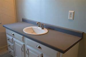 how to makeover a bathroom without remodeling With painting laminate bathroom countertops
