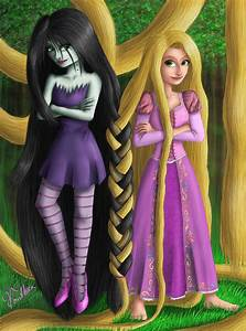 Marceline and Rapunzel the Braid by Vanthica on DeviantArt