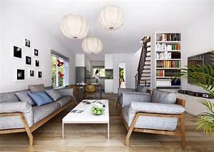 Wohnzimmer Stylisch Einrichten : reihenhaus wohnzimmer gestalten ~ Markanthonyermac.com Haus und Dekorationen