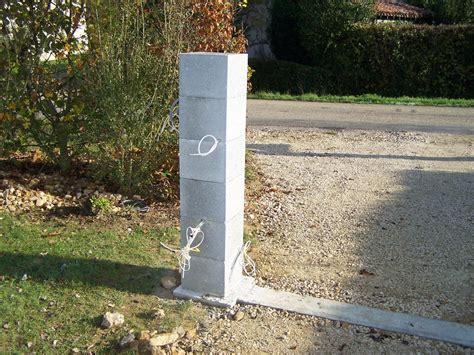 montage des piliers
