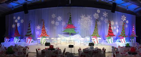 rockin christmas trees church stage design ideas