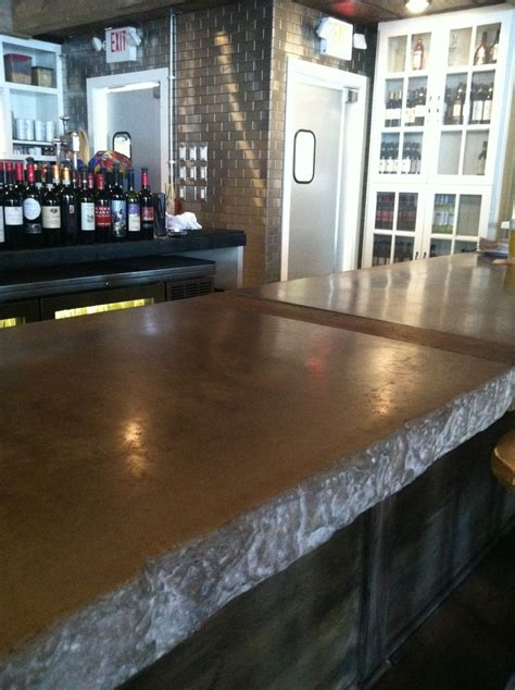 hand crafted restaurant bar top   castings