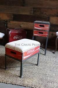 Coca Cola Möbel : zinc bosch bin footstool with storage handmade custom furniture recycled crafts ideas ~ Indierocktalk.com Haus und Dekorationen
