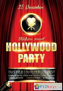 Hollywood Party Flyer Psd Template   Facebook Cover  U00bb Free Download Photoshop Vector Stock Image