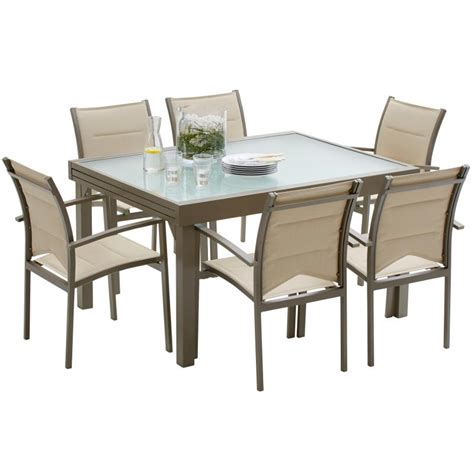 Stunning Salon De Jardin Pvc Taupe Pictures - Awesome Interior Home - satellite-delight.us