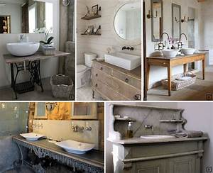 Petit Meuble Vasque : id es de meubles pour vasques originaux bnbstaging le blog ~ Teatrodelosmanantiales.com Idées de Décoration