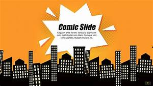Comic book powerpoint template google slides theme for Comic book template powerpoint